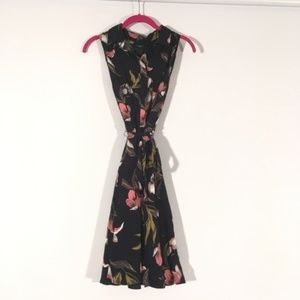 Ann Taylor Factory Petite Navy Floral Dress 10P
